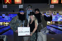 Sales representatives from Royal LePage Burloak Real Estate Services mug for the camera at the company's annual charity Halloween Chli Bowl fundraising event. Pictured from left to right are Steve Wilkins, Rich Scott, Tracey Flanigan and Paul Busnello.