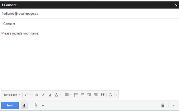 CASL: Creating a linked email consent letter (3/3)
