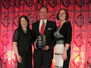 Pictured left to right are Shanan Spencer-Brown, Executive Director, Royal LePage Shelter Foundation; Phil Soper, President and CEO at Royal LePage; and; Lorraine McLachlan, President & CEO at Canadian Franchise Association.