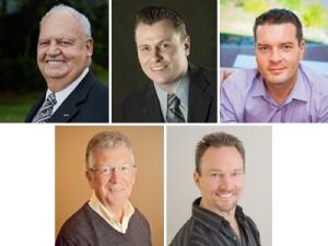 Clockwise from top left: Barry Clark, Travis Carmichael, Clinton Miller, Stephen Grant and Gregg Hart