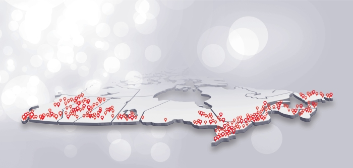 RLP Commercial Canada map