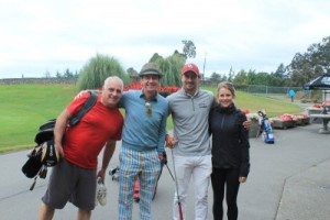 Pictured at the 11th Annual Royal LePage Coast Capital Realty Golf Party, from left are sales representative Bill Walters, broker/manager Bill Ethier, Blair Sturrock and Marlie Hill.