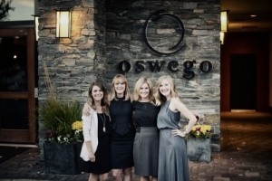 Pictured left to right are intern Kaylyn Kershaw, sales representatives Saira Waters and Tasha Noble, and unlicensed assistant Laura Roberts.