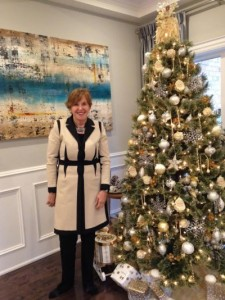 As one of the generous event sponsors, Loretta Phinney, sales representative with Royal LePage Real Estate Services Ltd., greeted attendees of the Mississauga Holiday House Tour.