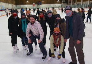 Beards on Ice skaters in Victoria, BC