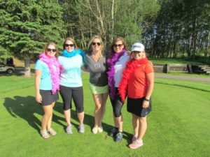 Attendees at the Royal LePage Premier Real Estate charity golf tournament, from L to R: Kym Barrett, Brittney Pylypiuk, broker/owner Shirley Williams, Alayna Burnstad and Lisa Lupino.