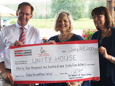 Fort McMurray Unity House cheque_feature