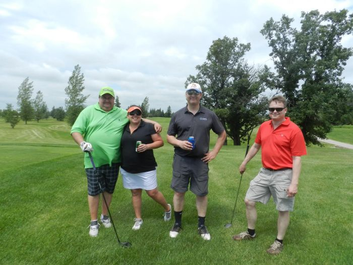 Golfers at Royal LePage Dynamic Real Estate's 1st annual golf tournament, from L-R: Doug Bowes (tournament organizer), Gina Cartman, Mike Zettler and Gary Danyluk