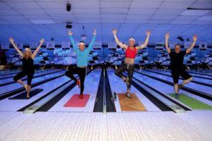 The Yogies: Pictured left to right are Thomas Kaczmarski, Alex Zijlstra, Richard Harrison and Katie Reynolds