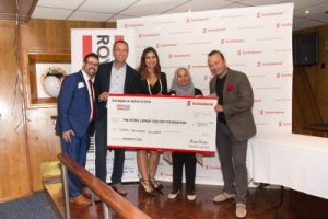 L-R: Gary Fraga, Royal LePage Supreme Realty sales representative; Stephen Elliott, Scotiabank home financing advisor; Stephanie Pacheco, Royal LePage Supreme sales representative; Sadia, Women On The Move leadership program graduate (The Redwood Shelter); Manny Andrade, Royal LePage Supreme Realty owner/broker of record.