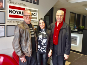 From left to right: Yves Beauregard, Julie Blanchette (Desjardins) and Laurent Blanchette (Royal LePage Multi-Services)